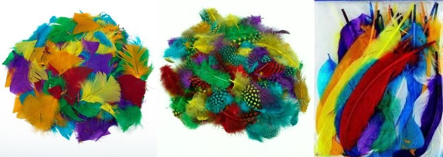 20 Beautiful Coloured Quill Feathers 15cm To 20cm Craft Hats Black 30s